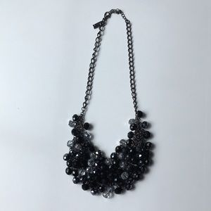 The Limited Black Bead Statement Necklace